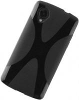 LG H791 Nexus 5X Silikon-Hülle / Tasche schwarz