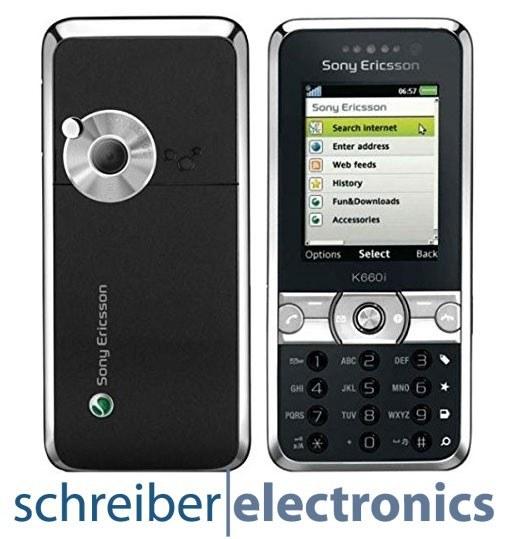 Sony Ericsson K660i Handy silber schwarz
