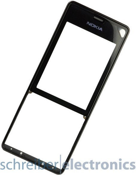 Nokia 515 Cover (Oberschale, Frontcover) schwarz