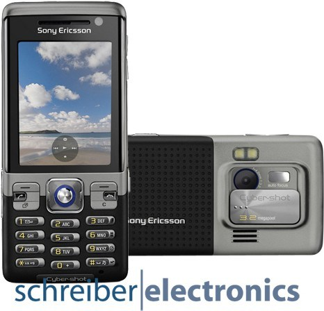 Sony Ericsson C702 Handy schwarz speed black