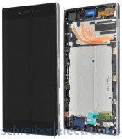 Sony Xperia Z5 premium Display Einheit chrome silber