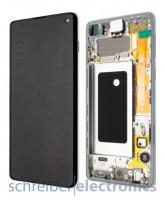 Samsung G973 Galaxy S10 Display mit Touchscreen Prism weiß