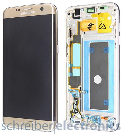 Samsung G935 Galaxy S7 edge Display-Einheit + Touchscreen gold