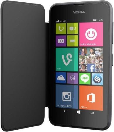 Lumia 530 Flip Case (Klapp Tasche Buch) schwarz