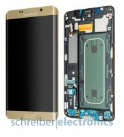 Samsung G928 S6 edge+ plus Display Einheit gold