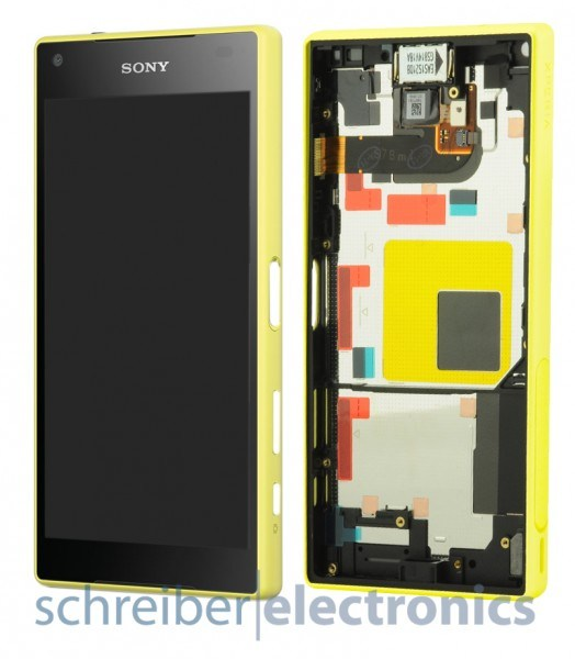 Sony Xperia Z5 compact Display Einheit gelb