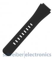 Samsung R800 Gear Watch Armband einteilig / Löcher Seite Schwarz