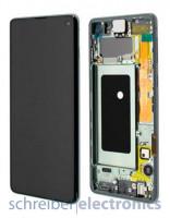 Samsung G973 Galaxy S10 Display mit Touchscreen Prism grün