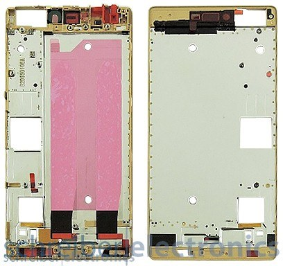 Huawei P8 Display Montagerahmen (Frontcover) gold