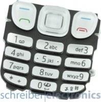 Nokia 6303 classic Tastatur (Tastenmatte) weiss