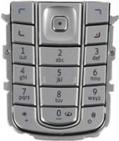 Nokia 6230/6230i Tastatur (Tastenmatte) silber