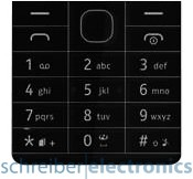 Nokia 515 Tastaturmatte (Tastenmatte) schwarz