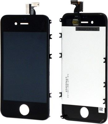 iPhone 4 Display-Set mit Touchscreen & Scheibe schwarz