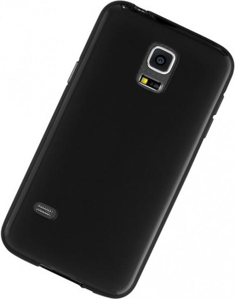 Galaxy S5 mini Silikon-Tasche / Hülle schwarz