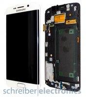 Samsung G925 Galaxy S6 edge Display mit Touchscreen weiss