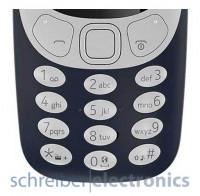 Nokia 3310 Tastatur (Tastenmatte) silber