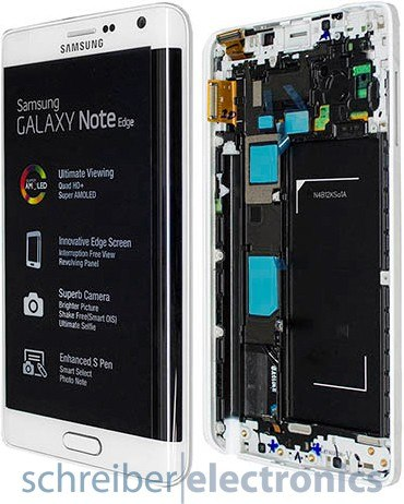 Samsung N915F Note Edge Display-Einheit weiss
