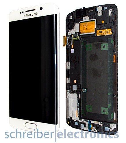 Samsung G925 Galaxy S6 edge Display-Einheit + Touchscreen weiss