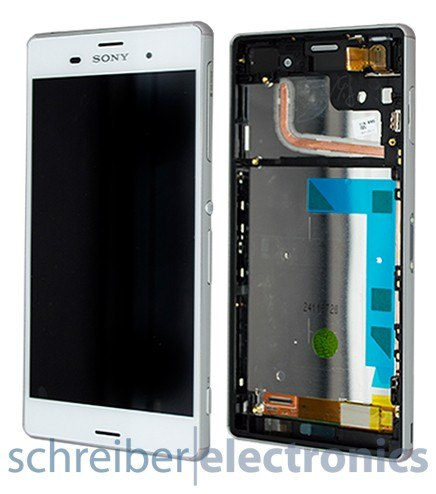 Sony Xperia Z3 Displayeinheit, Touchscreen weiss