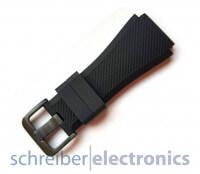 Samsung R800 Gear Watch Armband einteilig / Dornverschluss Seite Schwarz