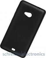 Lumia 640 XL Silikon Hülle / Skin-Case schwarz