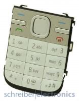 Nokia C5-00 Tastaturmatte (Tastenmatte) in weiss