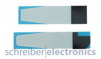 Sony Xperia XZ Premium / Dual Klebefolie (Kleber Dichtung) 2er Set Akku