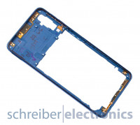 Samsung A750 Galaxy A7 (2018) Mittelgehäuse blau
