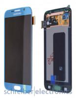 Samsung G920 Galaxy S6 Display mit Touchscreen blau