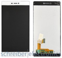Huawei P8 Display mit Touchscreen weiss