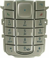 Nokia 6230 Tastatur (Tastenmatte) silber