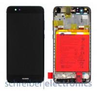 Huawei P10 Lite Display mit Rahmen + Akku schwarz
