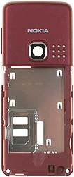 Nokia 6300 Mittelgehäuse rot (6300i 6301)