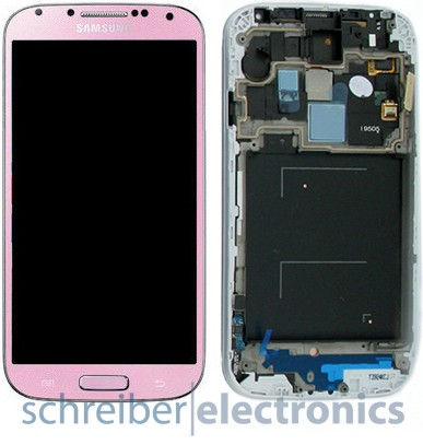 Samsung i9505 Galaxy S4 Display, Touchscreen pink