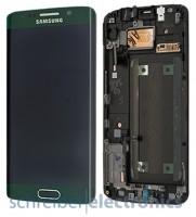 Samsung G925 Galaxy S6 edge Display mit Touchscreen grün
