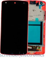 LG Nexus 5 Display Einheit, Touchscreen rot