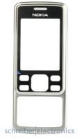 Nokia 6300 Cover (Oberschale) silber (6300i 6301)