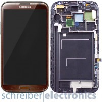 Samsung N7105 Galaxy Note 2 LTE Display mit Touchscreen braun