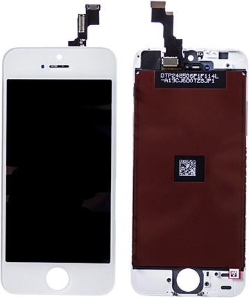 iPhone 5S / SE Display mit Touchscreen (Scheibe) weiss