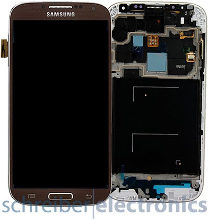 Samsung i9505 Galaxy S4 Display, Touchscreen braun