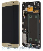Samsung G925 Galaxy S6 edge Display mit Touchscreen gold