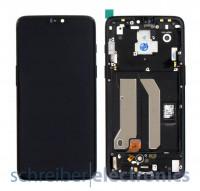 OnePlus 6 Display mit Touchscreen + Rahmen schwarz