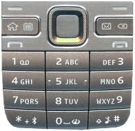 Nokia E52 Tastaturmatte (Tastenmatte) in metal al (silber)