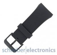 Samsung R720 Gear S2 Armband einteilig / Dornverschluss Seite S dunkel grau