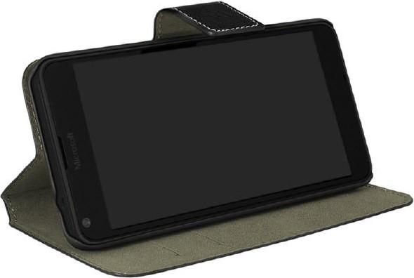 Lumia 640 XL Flip-Tasche (Buch horizontal) schwarz