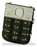 Nokia C5-00 Tastaturmatte (Tastenmatte) in schwarz-silber