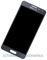 Samsung G850 Galaxy Alpha Display mit Touchscreen schwarz