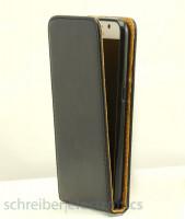 Apple iPhone XR leder Klapp-Tasche (Vertikal) schwarz