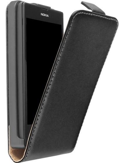 Lumia 520 Klapp-Tasche (Flip-Case) in schwarz