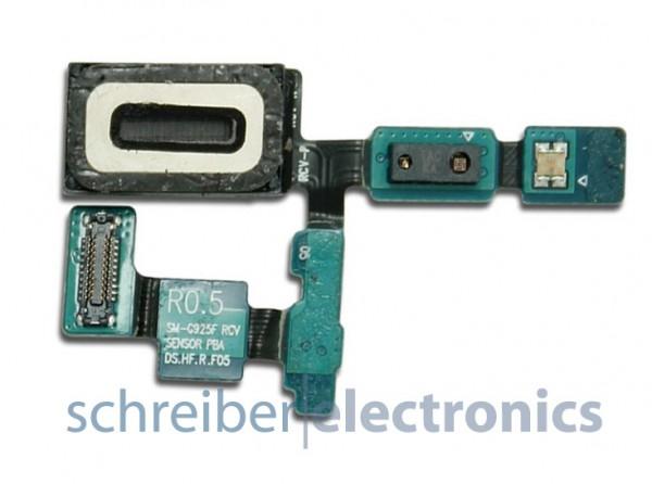 Samsung G925 Galaxy S6 edge Ohr Lautsprecher + Lichtsensor